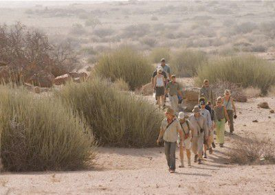 vols tracking on foot Namibia
