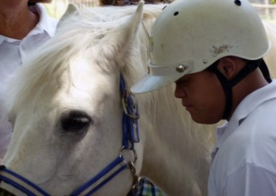 Child and a horse equine therapy for disabled children South Africa