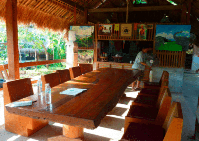 Dining area Family Volunteering Elephant Welfare Project in Chiang Mai in Thailand