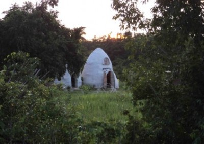 Dome in jungle family building Belize