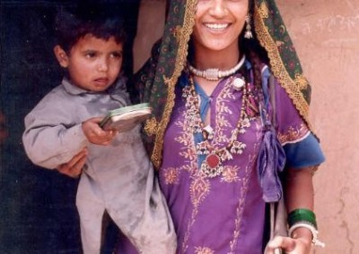 Local carrying her baby Women's Empowerment in India