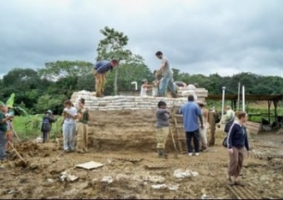 Mud Hut building for orphans Belize