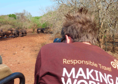 Photographing wildlife in kaya tshirt family wildlife research South Africa