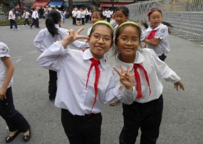 School children Teaching Development in Southern Vietnam