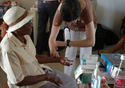 Volunteer with elderly patient hospitals and clinics Belize