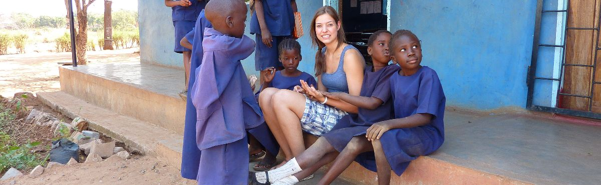 Volunteer with kids Teaching and Community Work in Zambia