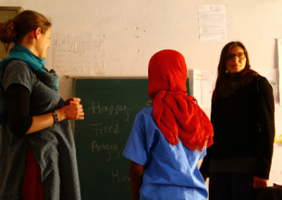 Writing on board Women's Empowerment in India