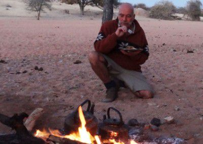 camp fire Namibia