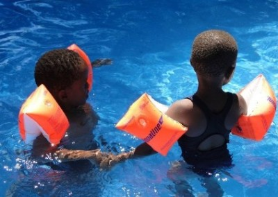Children swimming Sports Development with Rural Schools in Swaziland