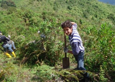 Digging economic community development Ecuador