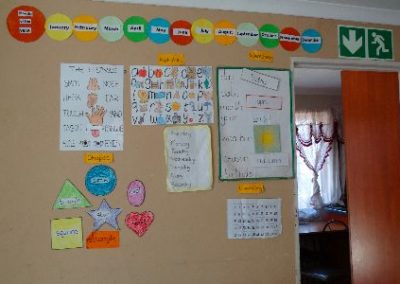 Hout Bay Basic lessons posters Early Years Internship in Cape Town
