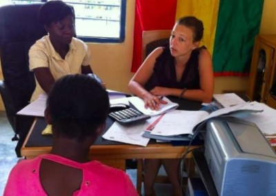 Interviewing a borrower Microfinance for Economic Empowerment in Ghana
