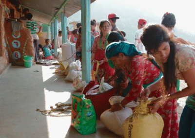 Women with sacks Empower Women on Sustainable Agriculture Initiative in Nepal