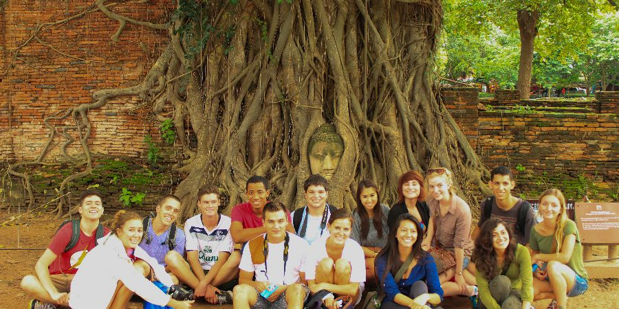 group-sat-by-large-tree-thailand