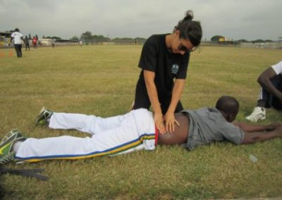 Ghana Physiotherapy internship session on back